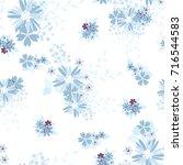 vintage romantic vector trendy... | Shutterstock .eps vector #716544583