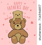 happy father's day unique... | Shutterstock .eps vector #716546857