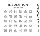 set line icons of insulation... | Shutterstock . vector #716551603