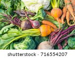 a closeup view of fresh... | Shutterstock . vector #716554207
