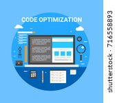 coding  website  optimization ... | Shutterstock .eps vector #716558893