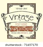 vintage label | Shutterstock .eps vector #71657170