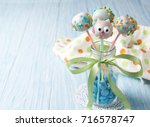 owl cake pops with multicolored ... | Shutterstock . vector #716578747