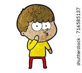 cartoon curious boy   Shutterstock .eps vector #716585137