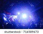 defocused entertainment concert ...   Shutterstock . vector #716589673