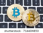 digital currency physical... | Shutterstock . vector #716604853