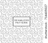 seamless pattern with spiral... | Shutterstock .eps vector #716605027