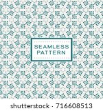 vintage floral seamless pattern.... | Shutterstock .eps vector #716608513