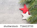 christmas greeting card with...   Shutterstock . vector #716613733
