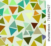 seamless abstract triangle... | Shutterstock .eps vector #716619427