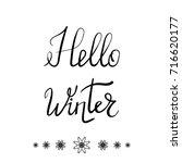 vector hello winter typographic ...   Shutterstock .eps vector #716620177