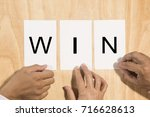 team co operate to arrange... | Shutterstock . vector #716628613