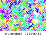 seamless colored blue shapes... | Shutterstock . vector #716646463