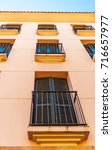 stylish balcony with a metal... | Shutterstock . vector #716657977