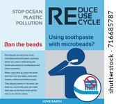 stop ocean plastic pollution...   Shutterstock .eps vector #716685787