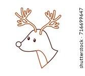 forest deer wildlife animal... | Shutterstock .eps vector #716699647