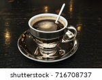coffee cup with space on the...   Shutterstock . vector #716708737
