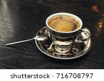 coffee cup with space on the...   Shutterstock . vector #716708797