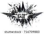 black friday sales. abstract 3d ... | Shutterstock .eps vector #716709883