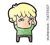 cartoon curious man   Shutterstock .eps vector #716725327