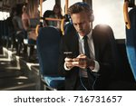 focused young businessman...   Shutterstock . vector #716731657