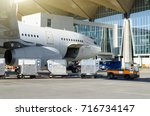 airplane standing in the... | Shutterstock . vector #716734147