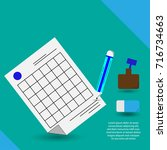 create note vector line icon.... | Shutterstock .eps vector #716734663