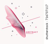 abstract background with...   Shutterstock .eps vector #716737117