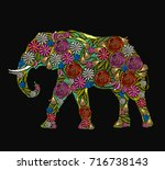 Embroidery Elephant. Classical...