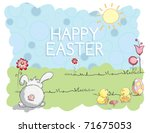 Easter Greeting Card   Bunny...