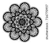 mandalas for coloring book.... | Shutterstock .eps vector #716770957