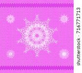 vector winter knitted pink...   Shutterstock .eps vector #716771713