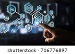 businessman on blurred... | Shutterstock . vector #716776897