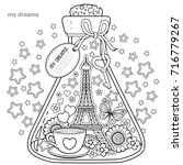 vector coloring book for...   Shutterstock .eps vector #716779267