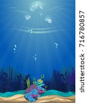 a beautiful underwater scene....   Shutterstock .eps vector #716780857