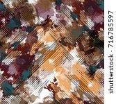 seamless pattern creative... | Shutterstock . vector #716785597