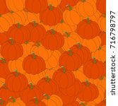 illustration of pumpkins.... | Shutterstock .eps vector #716798797