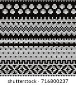 knitted abstract seamless... | Shutterstock .eps vector #716800237