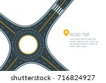 roundabout road junction ... | Shutterstock .eps vector #716824927