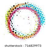 abstract colorful pop art... | Shutterstock .eps vector #716829973