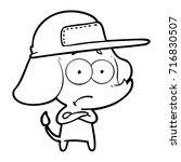 cartoon unsure elephant wearing ...   Shutterstock .eps vector #716830507