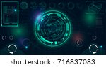 radar screen. vector...   Shutterstock .eps vector #716837083