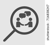 handshake and bubbles vector... | Shutterstock .eps vector #716838247