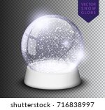 snow globe empty template... | Shutterstock .eps vector #716838997