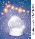snow globe christmas magic ball ...   Shutterstock .eps vector #716839003