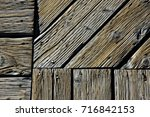 intersection of weather beaten...   Shutterstock . vector #716842153