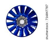 blue air turbine fan for... | Shutterstock . vector #716847787