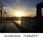 Small photo of An splendid picture where you can admire the sun rising, this picture was taken at the ferrie from Ferries del Caribe, when it was on its way to Dominican Republic. 06/16/17
