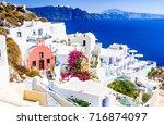santorini  greece. famous...   Shutterstock . vector #716874097