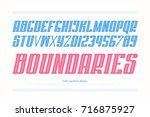 italic alphabet letters and... | Shutterstock .eps vector #716875927